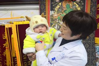 成都青白江不孕症(输卵管不通+腺肌症)宝妈来院报喜